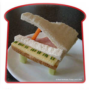 Funky Lunch :: Grand Piano Sandwich
