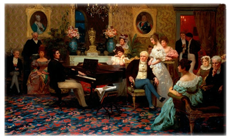 Chopin Performing at Salon